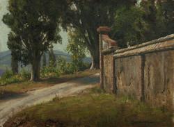 Jospeh McGurl - Study of a Wall (plein air)