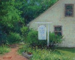 Lana Ballot - The Three Village Historical Society Building - Wet Paint 2015 (plein air)