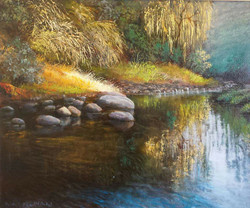 Ina Millman - The River in Clarens (oil)