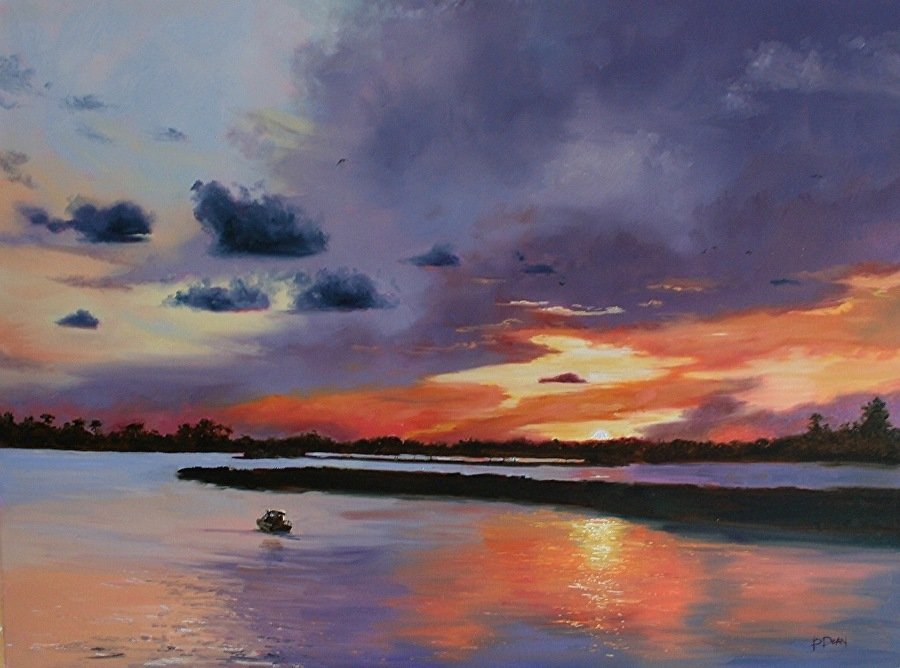 Beth Dean - Sunset Over Back Bay