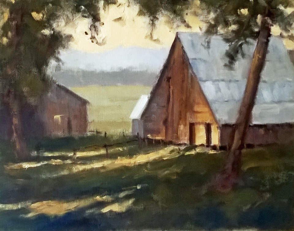 Steve Whitney - Teanaway Barn (oil demo)