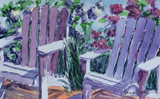 Denise Vitollo - Cape May Point Red Store (watercolor)