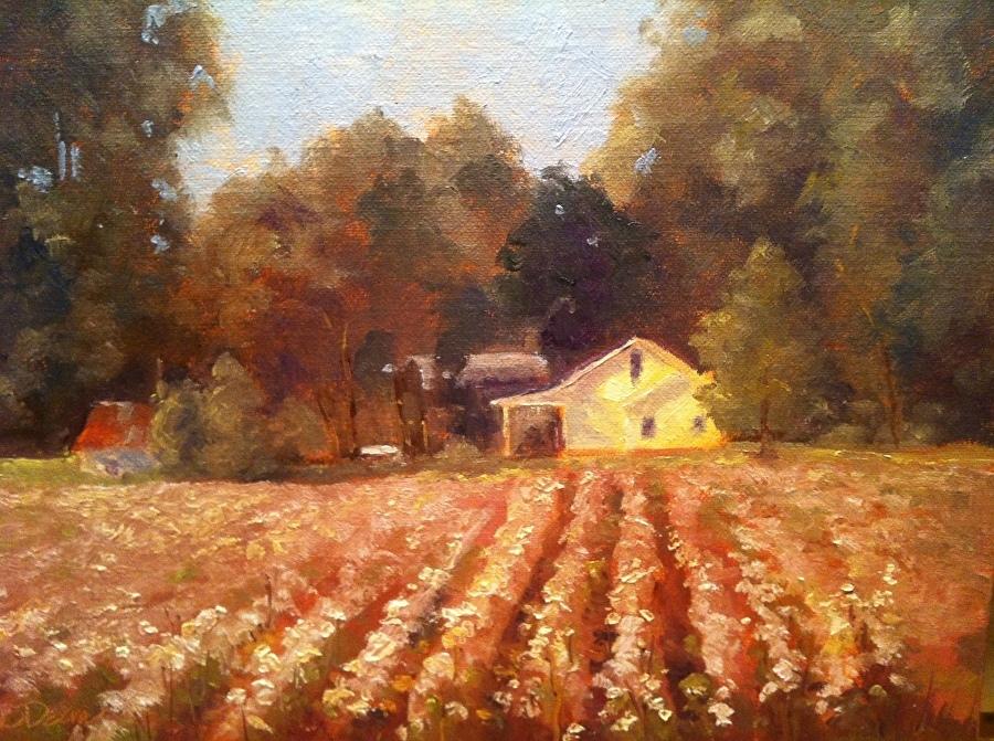 Beth Dean - Cotton Fields Back Home (plein air)