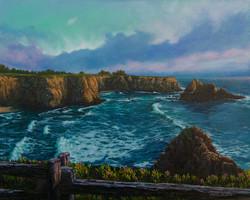 John Nichols - Overlooking Cook's Beach