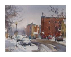 Andy Evansen - First Snow Downtown