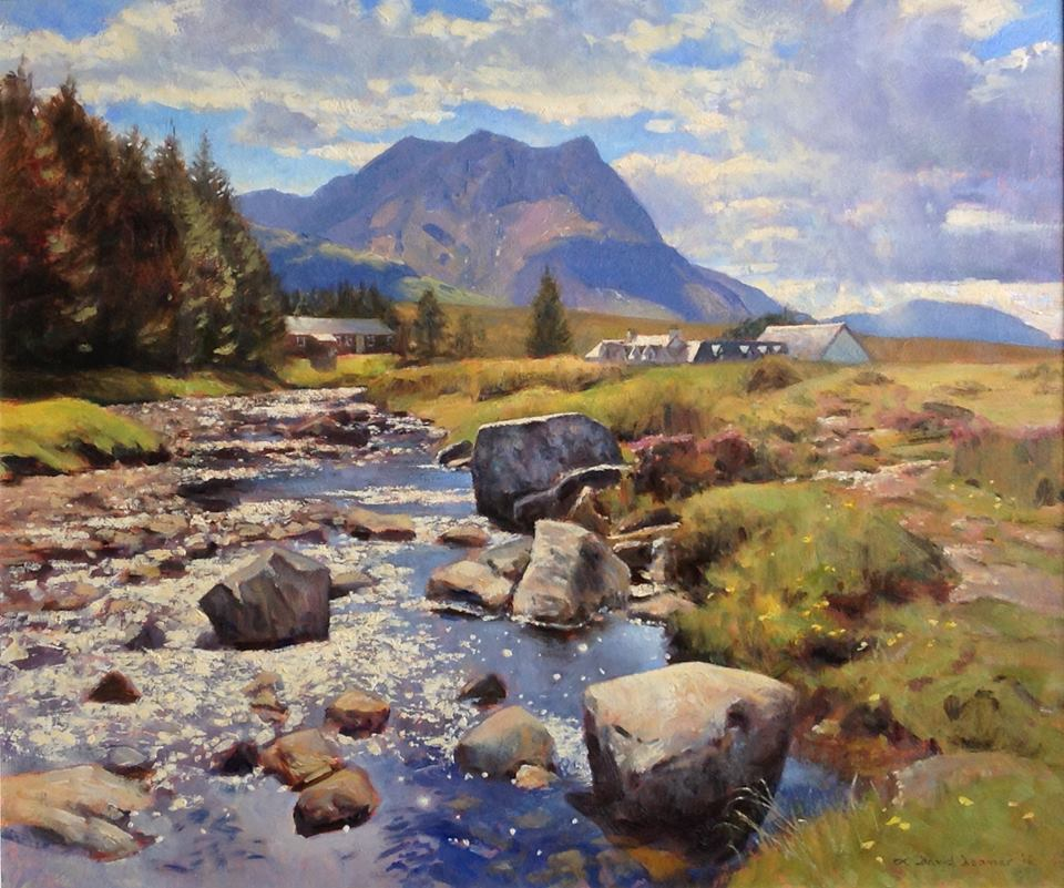 David Deamer - At Kingshouse, Rannoch (oil)