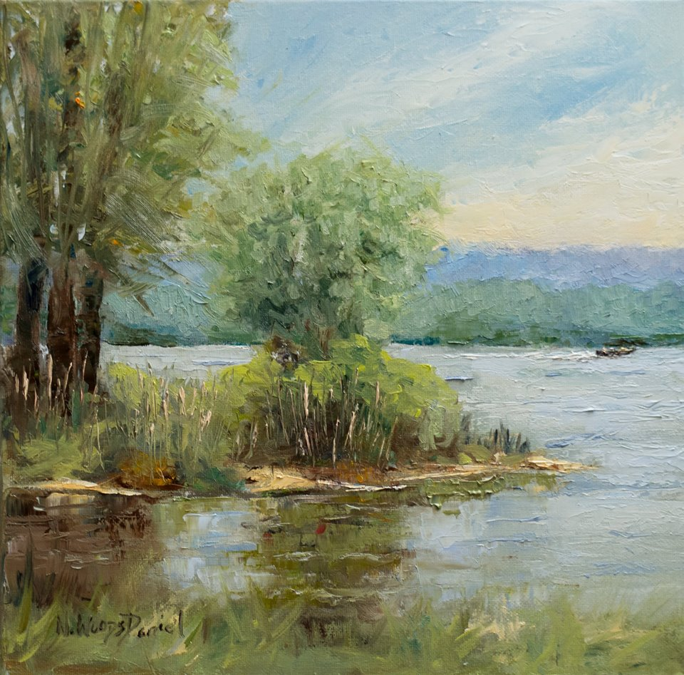 Nancy Woods Daniel - Lazy Day at the Lake