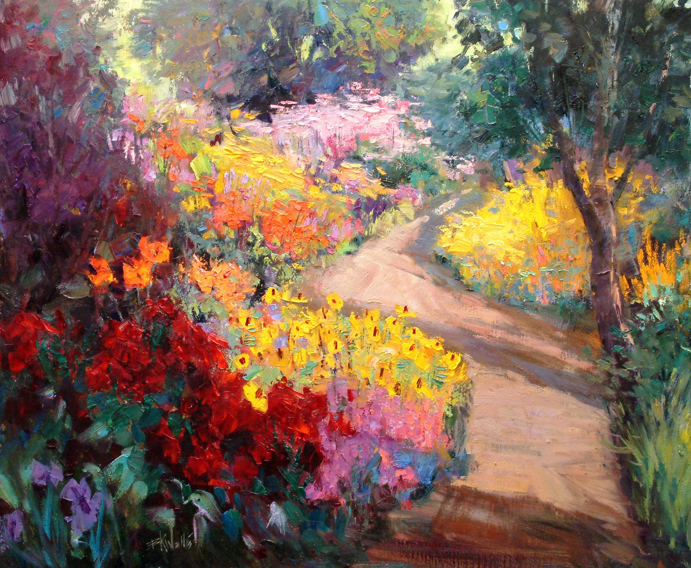 Eric Wallis - Sunlight on Garden Path