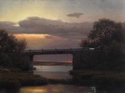 Joseph McGurl - Twilight at the Bridge