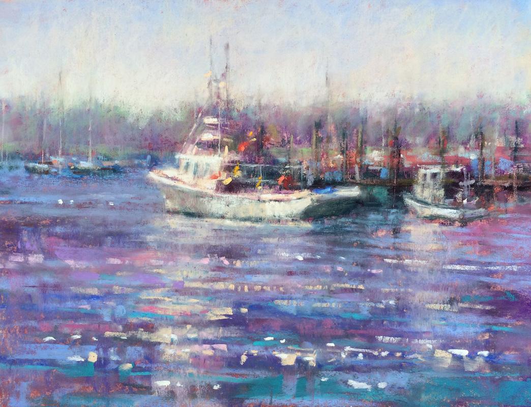 Jeanne Tangney - Long Wharf (plein air)