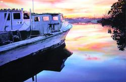 John Bayalis - Work Boats at Dusk