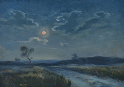 J.R. Cook - Full Moon and Road