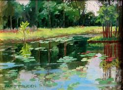 Nancy Paris Pruden - Frog Pond (plein air)