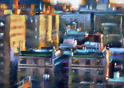 Desmond O'Hagan - Buildings at Daybreak, NYC