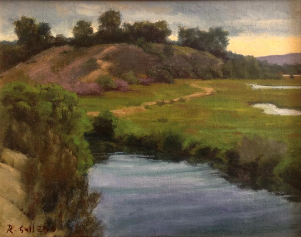 Richard E. Gallego - Solitude At Daybreak (plein air)