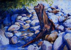 Cindy Kopenhafer Along Poncha - (watercolor)
