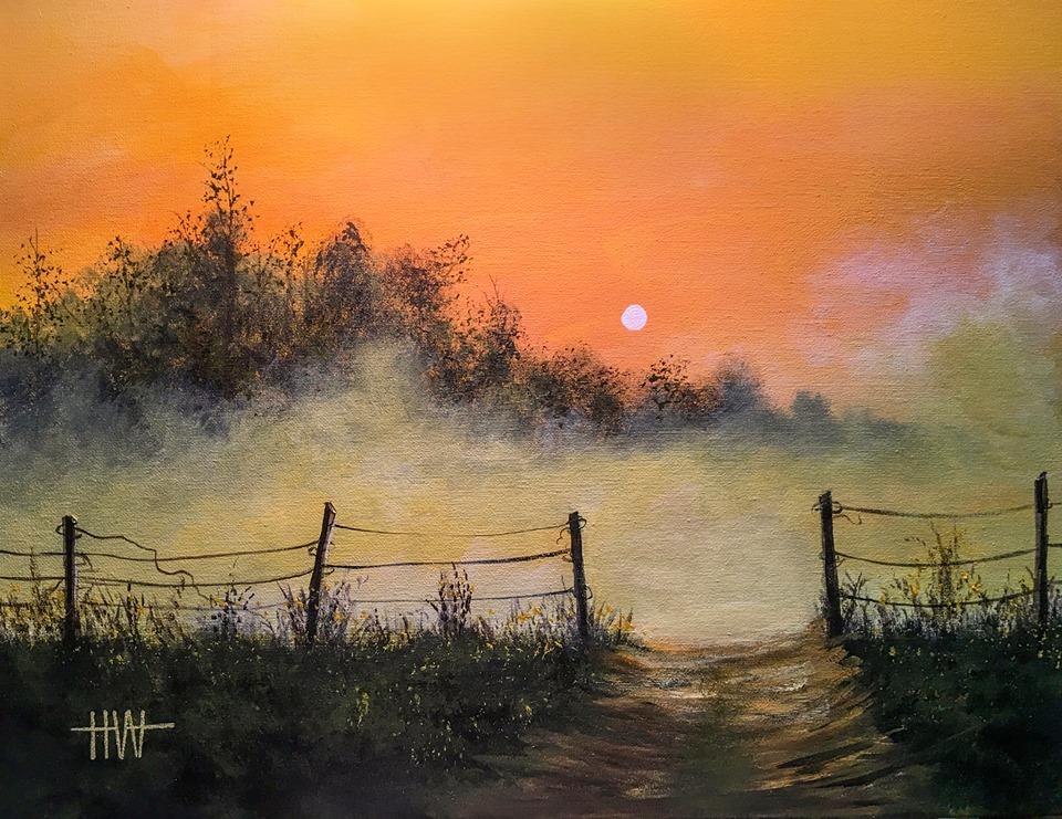 Hub Willson - Foggy Sunset