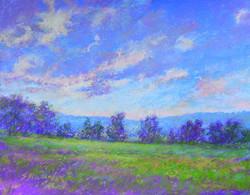 Susan Nicholas Gephart - Sunset and Clouds Over Hameau Farm
