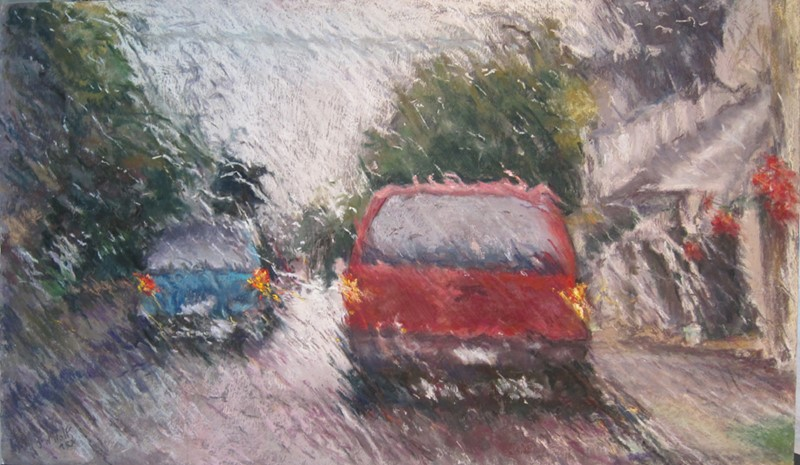 Jane Wright Wolf - Nor'easter, Rain on Main