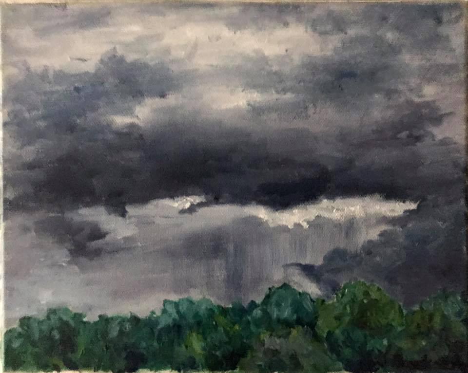 Justin Treadaway - Storm Clouds (plein air oil)