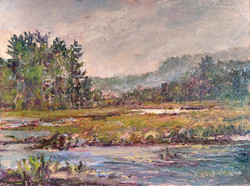 Susan Nicholas Gephart - Chilly Morn on Saranac Lake