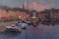 Oksana Johnson - Evening Lights in Honfleur