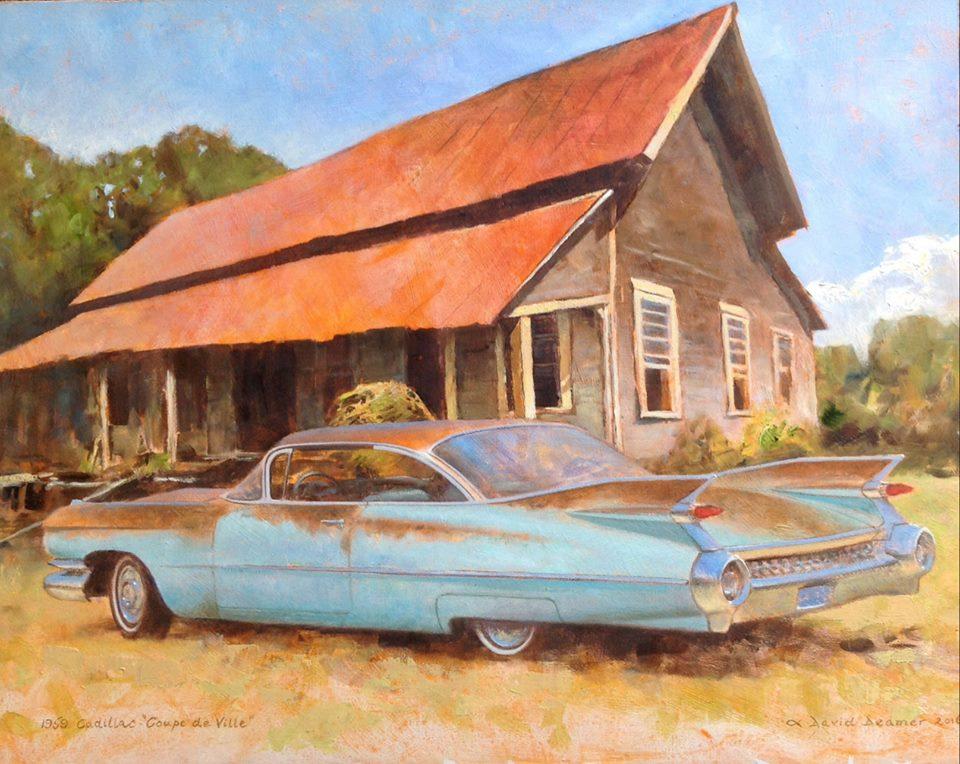David Deamer - 1959 Cadillac Coupe de Ville (oil)