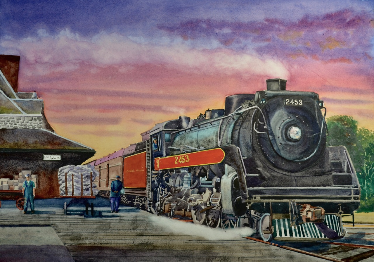 Roy Tibbits - Montreal Train in at McAdam