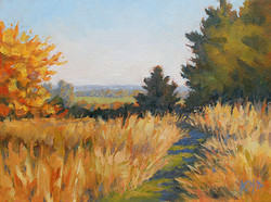 Kathy Mohl - Autumn Path (plein air)