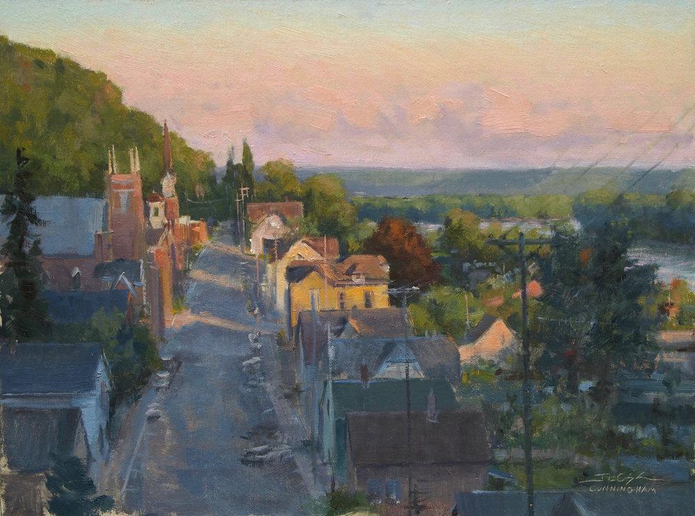 Joshua Cunningham - Fountain City Sunset (oil)