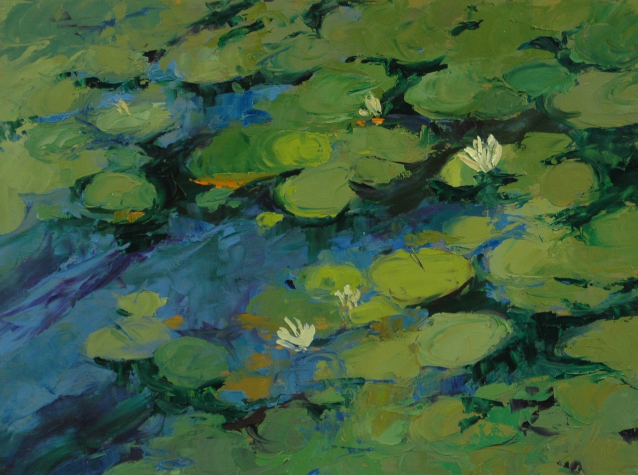 Robin Wellner- Waterlilies, Bass Lake
