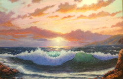 John Nichols - Ocean at Sunset