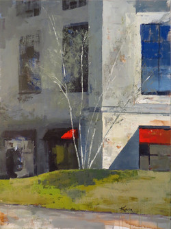 Karin Nelson - Red Awnings, McKay Tower