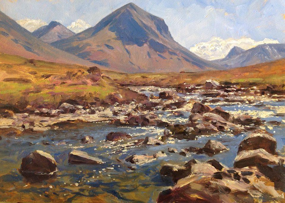 David Deamer - River Sligachan, Isle of Skye (oil)