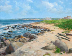 Blaney Harris - Beach at Weekspaug RI (plein air)