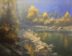 Stacey Peterson - McDonald River Evening