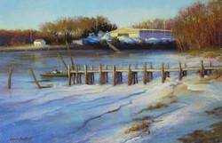 Lana Ballot - Winter in Mattituck Harbor