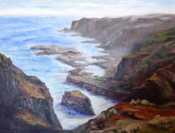 Nickie Barbee - Australian Coast, South Of Melbourne (oil)