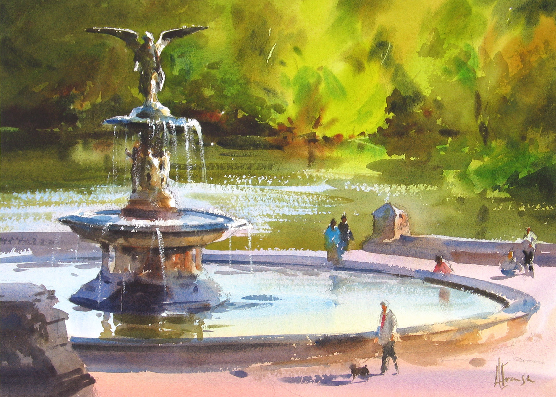Andy Evansen - Evening at Bethesda Fountain