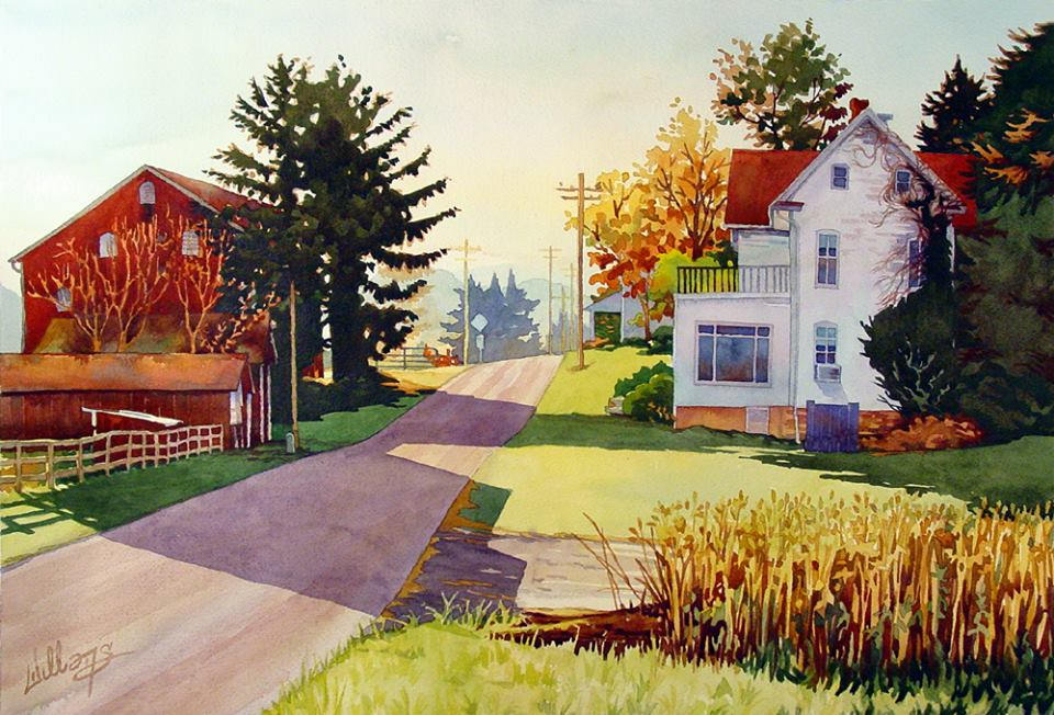 Mick Williams - The Country Road (watercolor)