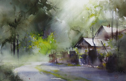 Ilya Ibryaev - Village (plein air)