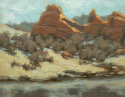 Janet Anderson - Red Rocks and Reflections (plein air)