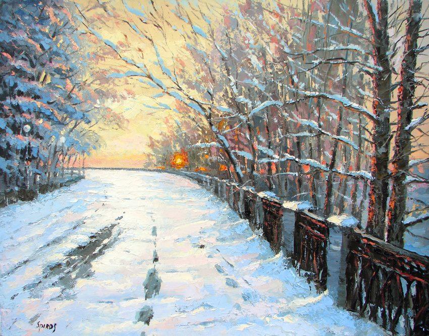 Dmitry Spiros - Volga River in Winter