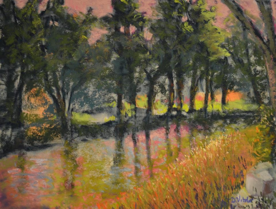 Denise Vitollo - Along the Brandywine River (pastel)