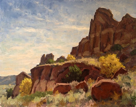 Richard E. Gallego - Red Rocks and Leaves of Gold