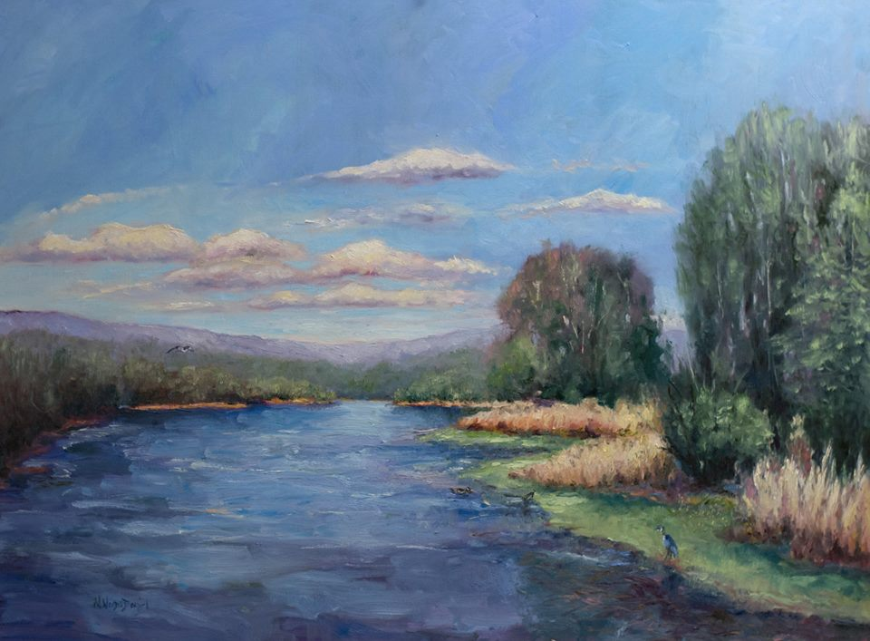 Nancy Woods Daniel - Spring Afternoon - Blythe Ferry