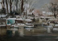 Lana Temina - November First (watercolor)