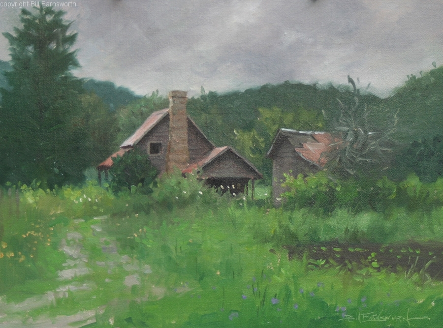 Bill Farnsworth - The Sewart House (plein air)