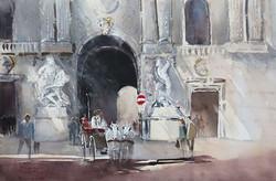 Christa Friedl - Michaelertor, Vienna (watercolor)