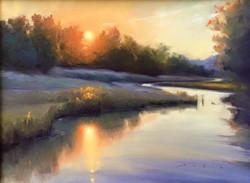 Olena Babak - Sunrise Over Peach Blossom Creek